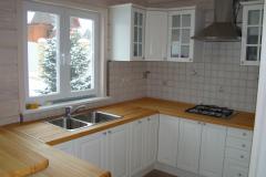 отделка внутри дачного дома кухня